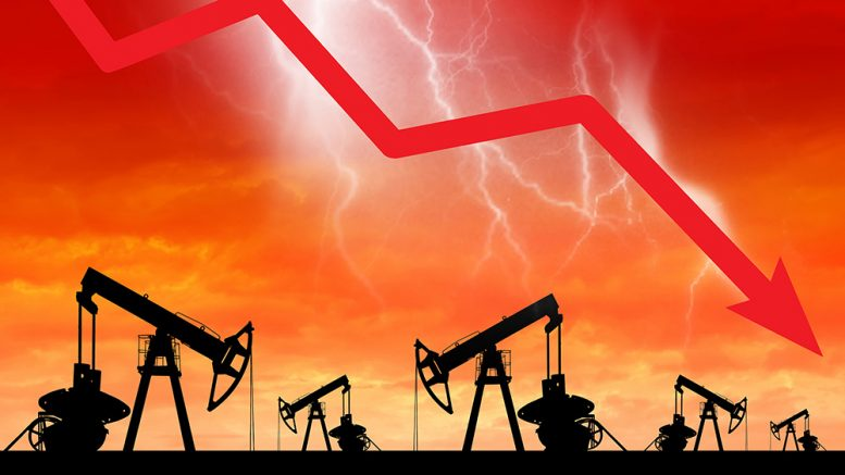 Oil wipe out sees prices plunge -220% to -$37 / barrel..