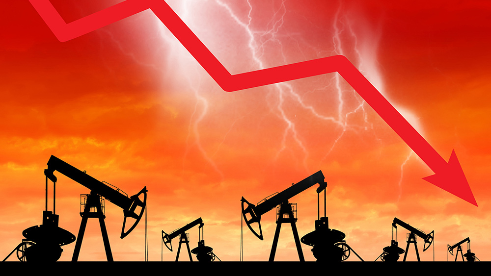 Image: Oil wipe out sees prices plunge -220% to -$37 / barrel… ECONOMIC WARFARE has been unleashed against America