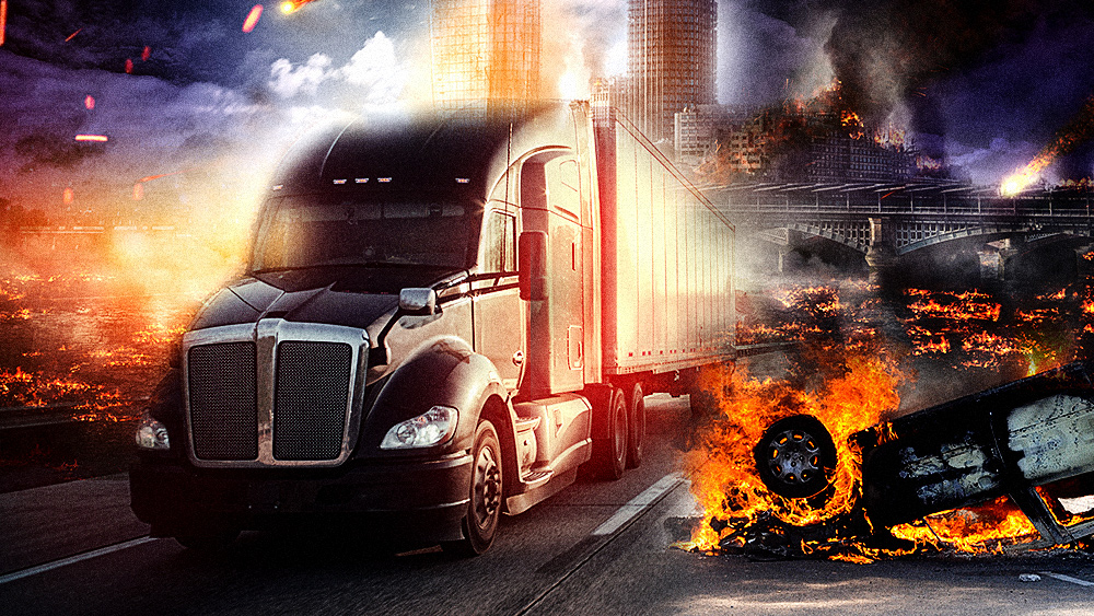 Image: COLLAPSE of Democrat-run cities now imminent as TRUCKERS say they will refuse delivering to cities with de-funded police