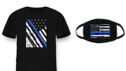 "Health Ranger Store launches PRO-POLICE ""Thin Blue Line"" T-shirts and masks - declare your support for COPS who keep us SAFE"