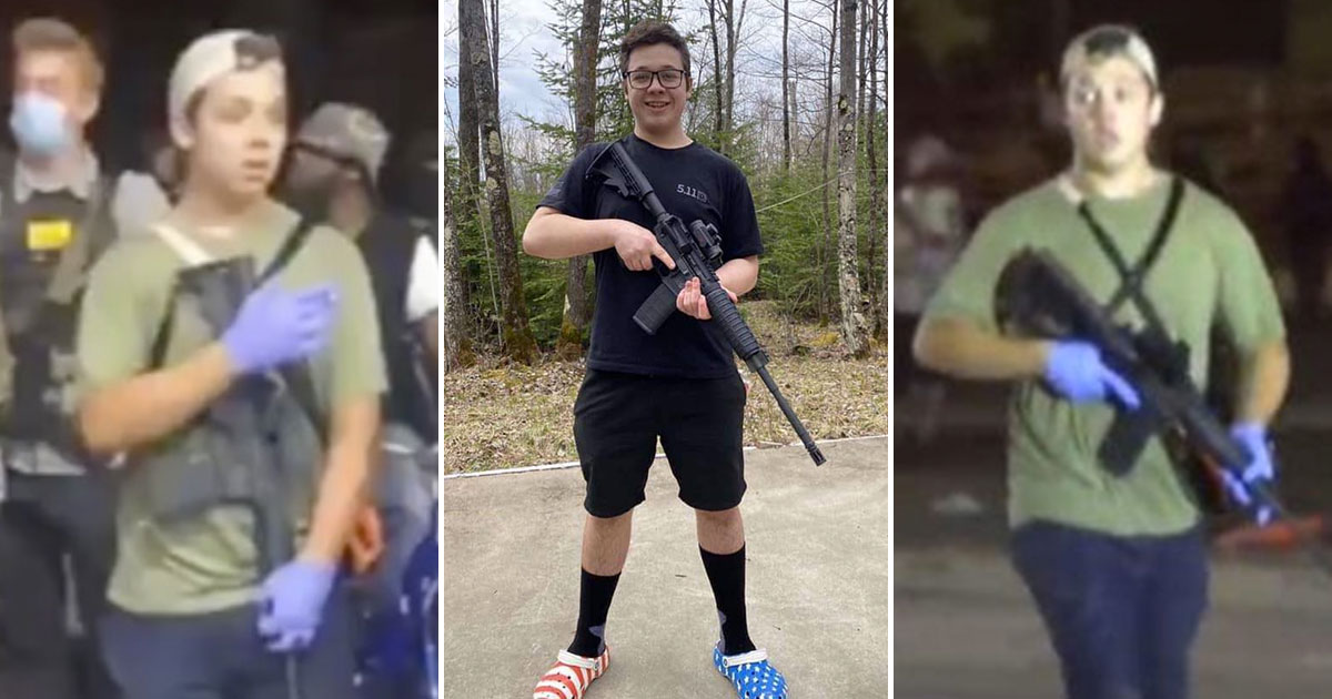 Image: Kyle Rittenhouse is an American HERO… finally someone stands up to BLM terror and shoots back in self-defense, taking out two BLM thugs