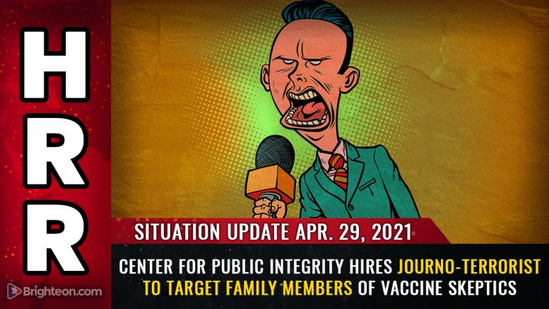 """The Center for Public Integrity pays a """"journalist"""" to harass and terrorize family members of vaccine skeptics, all while claiming to protect the """"public trust"""""""