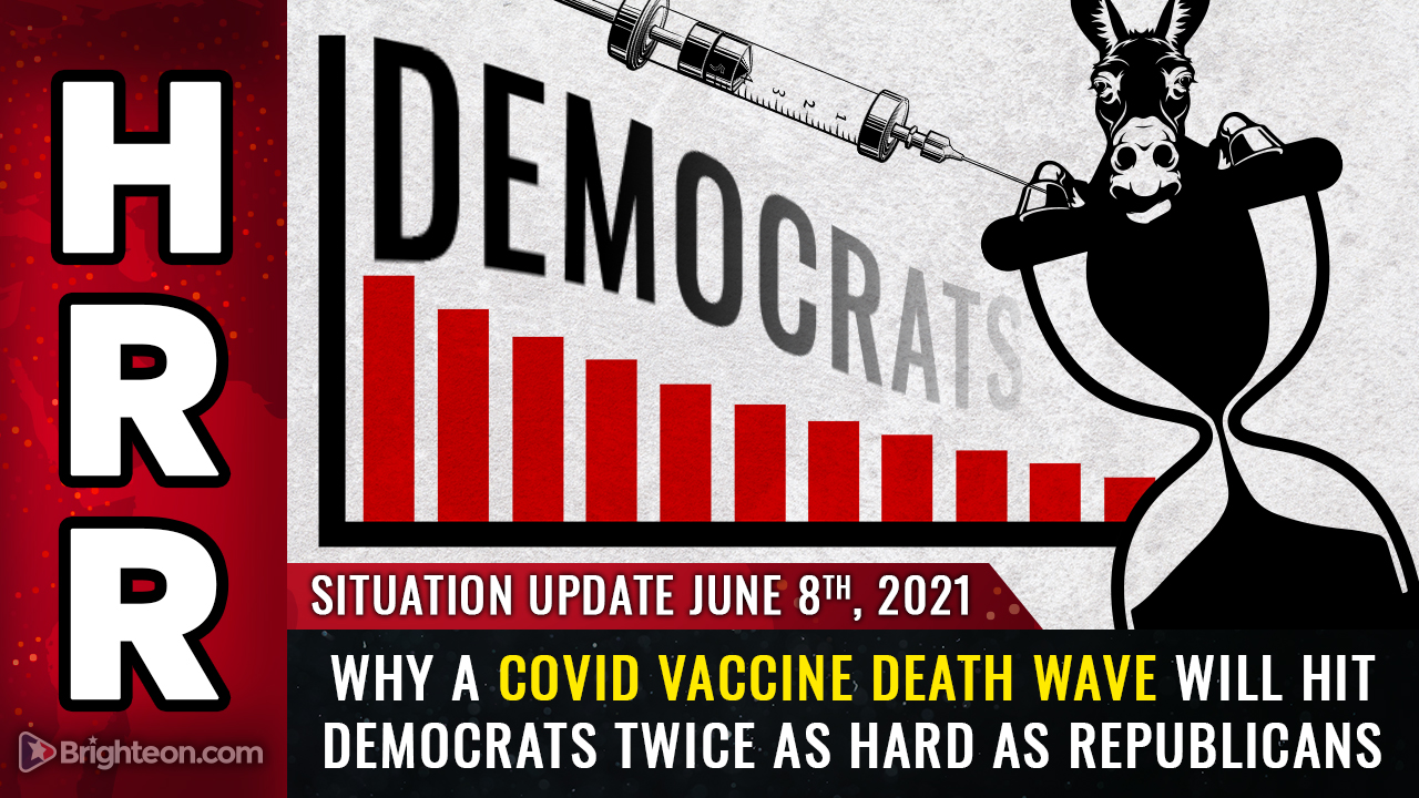 Image: ANALYSIS: Covid vaccine deaths likely to strike 2 Democrats for every 1 Republican… Dems could lose tens of millions of voters before 2024 elections