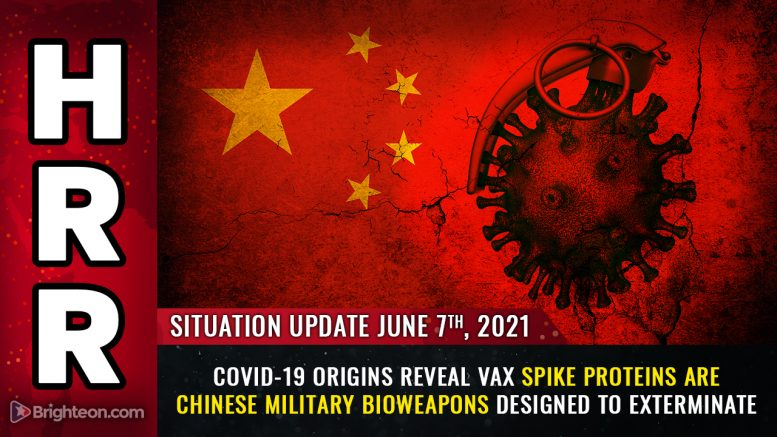 Covid-19 ORIGINS revealed: Vaccine spike proteins are Chinese military bioweapons designed to kill