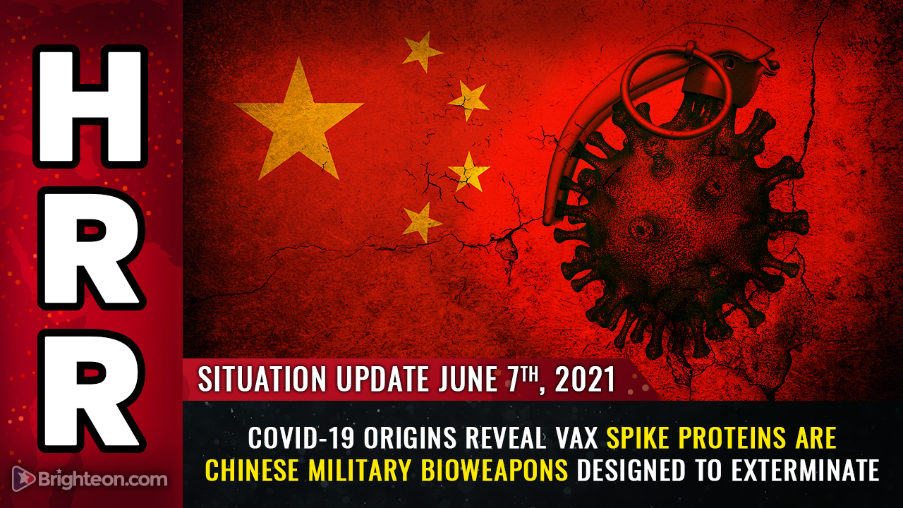 Image: Covid-19 ORIGINS revealed: Vaccine spike proteins are Chinese military bioweapons designed to kill
