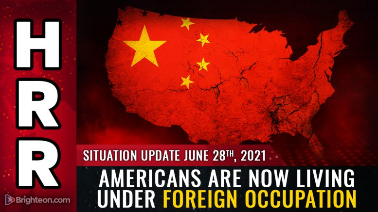 With the CCP now controlling everything, Americans are living under foreign ENEMY occupation