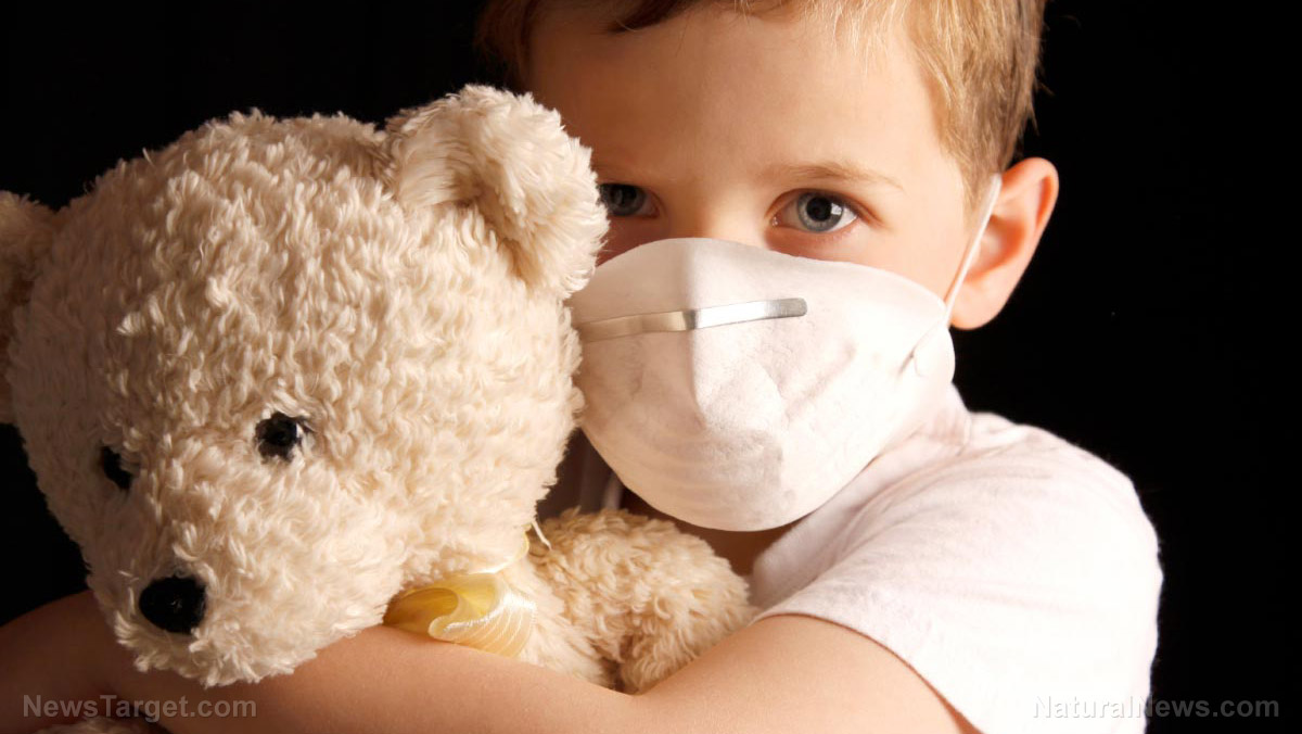 """Image: Children are being """"gassed"""" with carbon dioxide due to mask mandates, warns medical journal"""