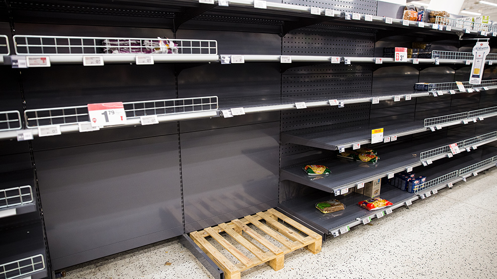 Image: Collapse imminent? Food suppliers admit they can't keep store shelves stocked amid supply chain disruptions, worker shortages