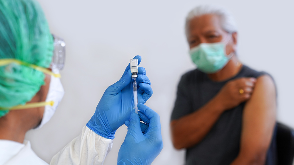 Image: RED ALERT: Democrats want to drop people from Medicare and Medicaid unless they agree to be injected with the experimental, deadly vaccine