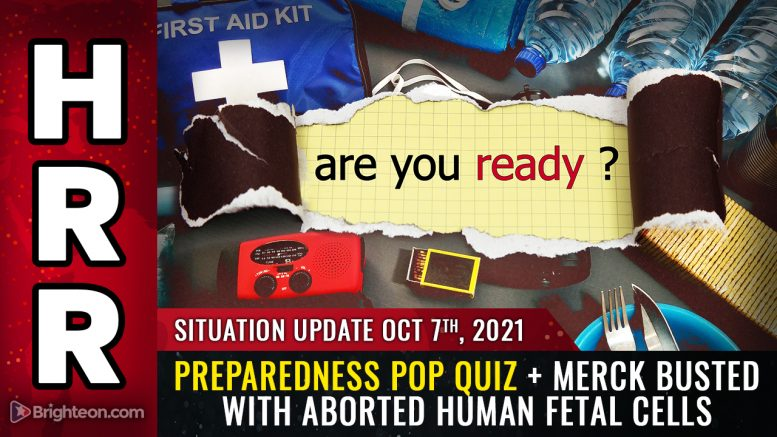 Preparedness POP QUIZ, Merck busted covering up aborted human fetal cells, European nations BAN covid vax for younger people